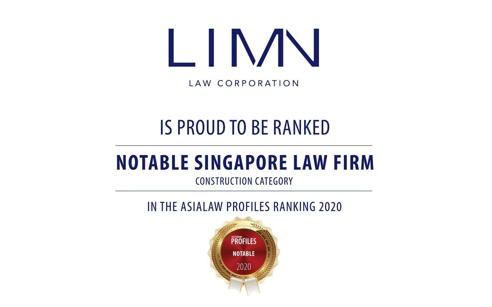 Asialaw Profiles Notable Award 2020