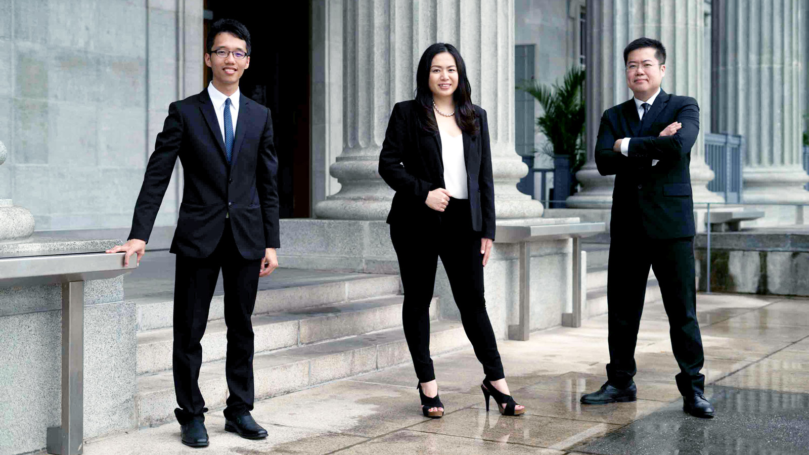 John Lim, Peggy Neo, Alvin Sia, Limn Law Team Members